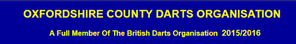 Oxfordshire County Darts